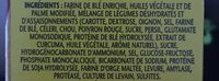 Minces aux Légumes - Ingredients - fr