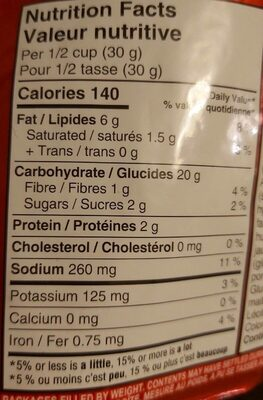 Crispers BBQ - Nutrition facts - fr