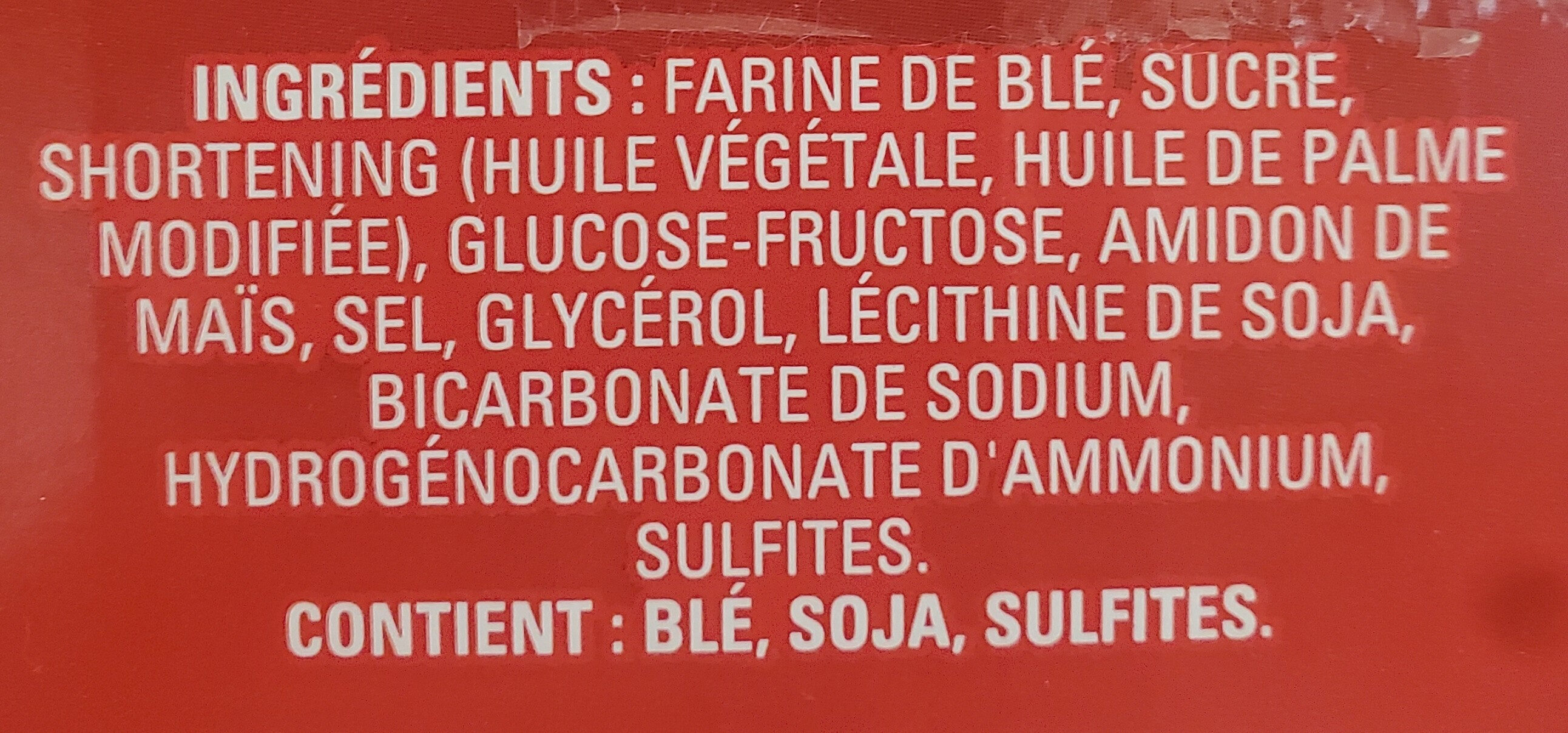 Biscuits Thé social - Ingrédients - fr