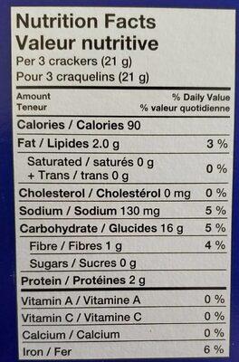 Craquelins de blé concassé - Nutrition facts - fr