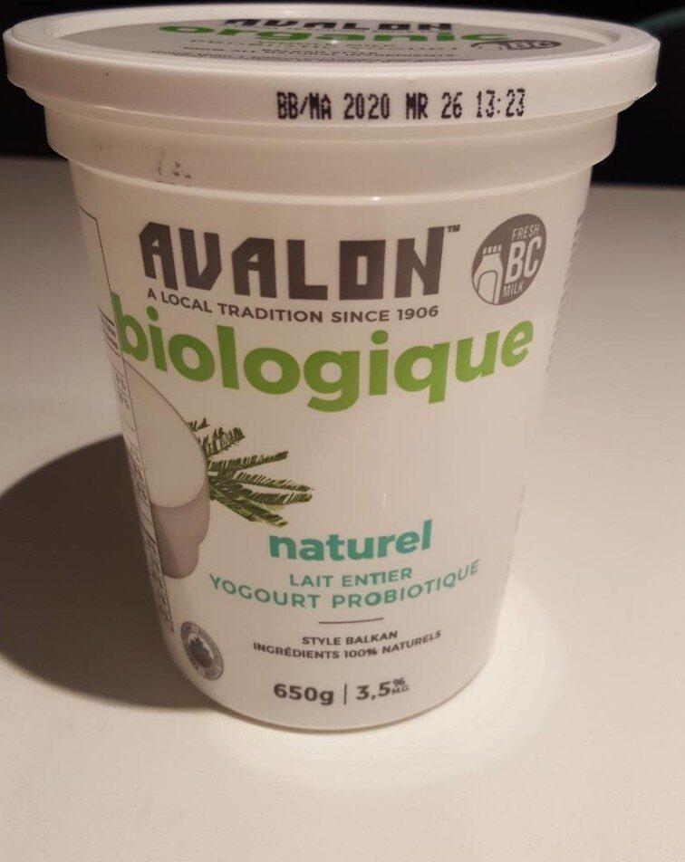 Avalon biologique yagourt probiotique - Product - fr