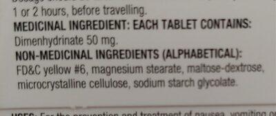 Equate Anti-Nauseant - Ingredients - en
