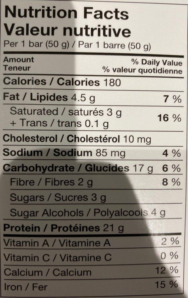 Pure protien - Nutrition facts - en