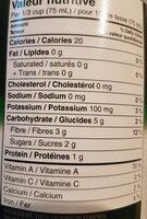 Puré citrouille - Nutrition facts - fr