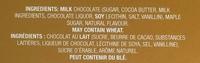 Maple Crunch milk chocolate - Ingredients - en