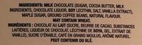 Café Latte milk chocolate - Ingredients - en