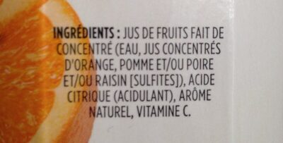 Jus Mélange D'orange (non Sucré) - Ingredients