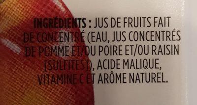 100% Jus Pur Déjeuner Pomme - Ingrédients - fr