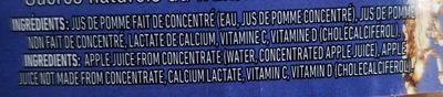 100%Jus de pomme fait de concentré - Ingredients - fr
