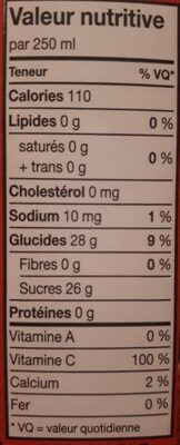 Nectar lychee - Informations nutritionnelles - fr
