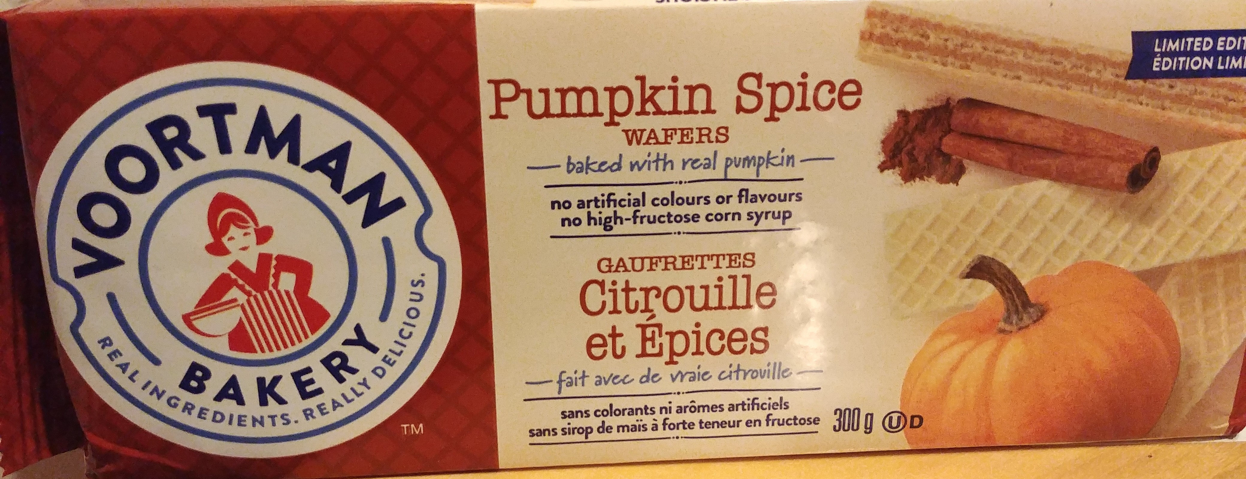 Pumpkin spice wafers, pumpkin spice - Produit - fr