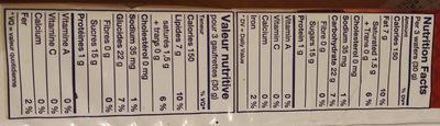 Pumpkin spice wafers, pumpkin spice - Informations nutritionnelles - fr