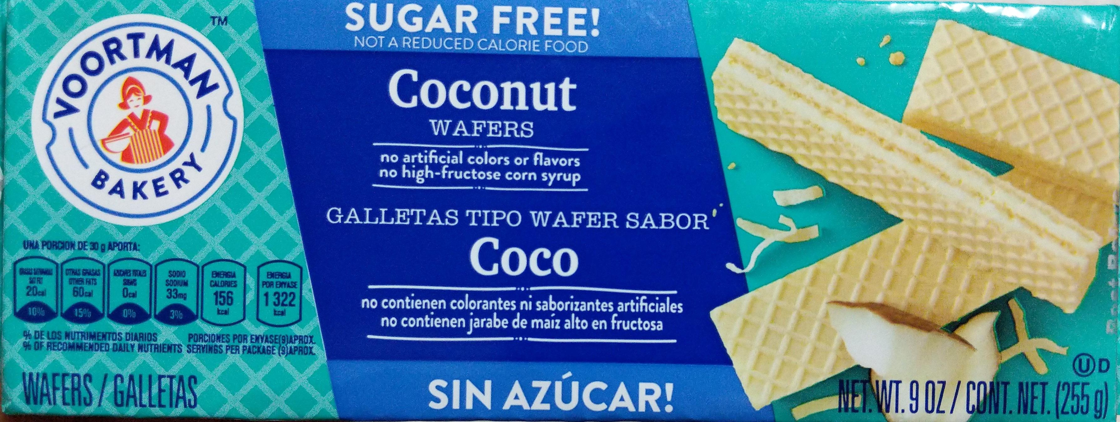 Coconut creme wafers, coconut creme - Produit - en