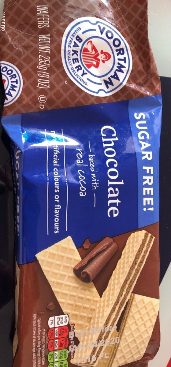 Baked with real cocoa chocolate wafers, chocolate - Product - en