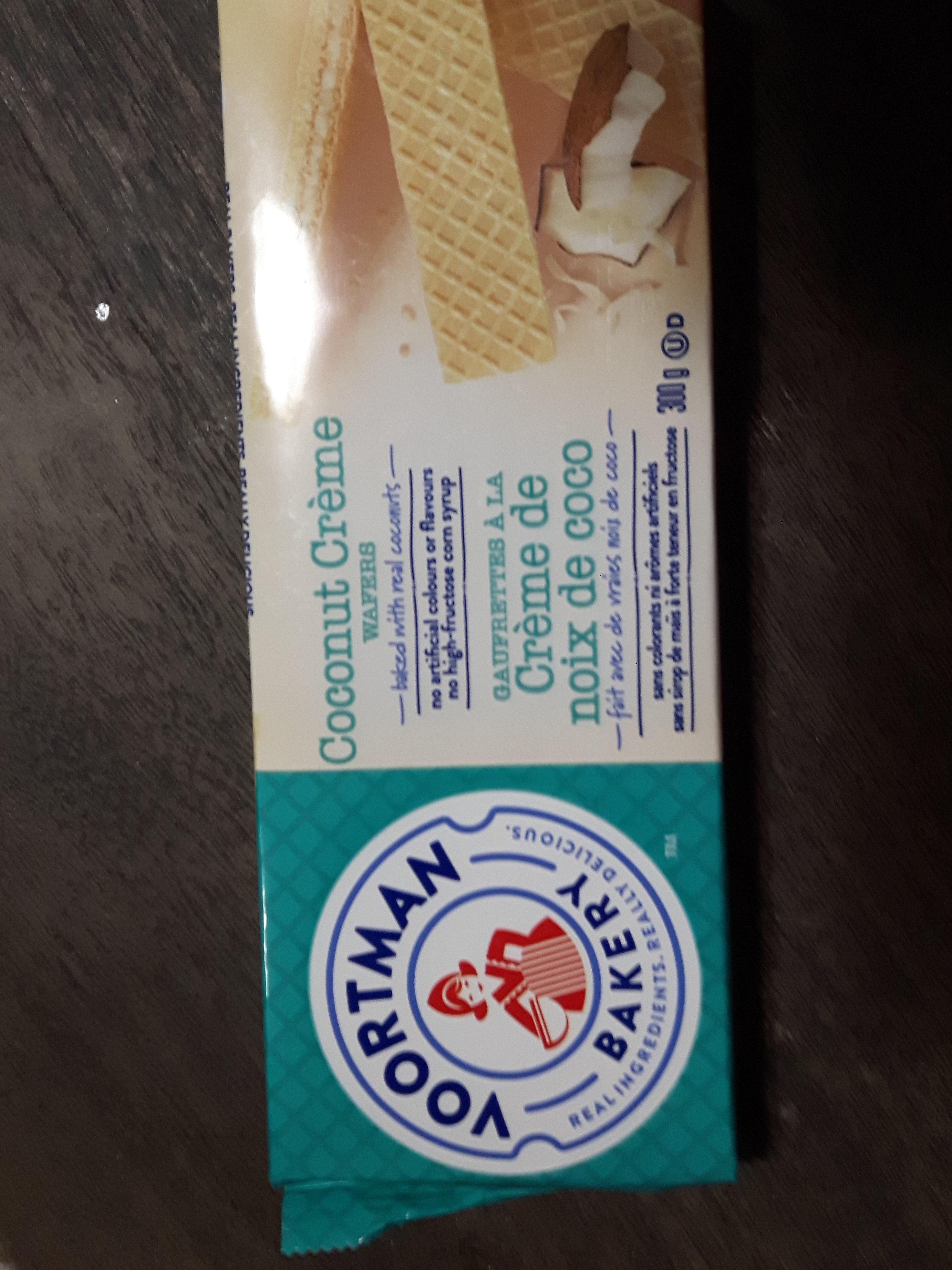 Bakery coconut creme wafers - Produit - fr