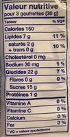 Bakery coconut creme wafers - Informations nutritionnelles - en