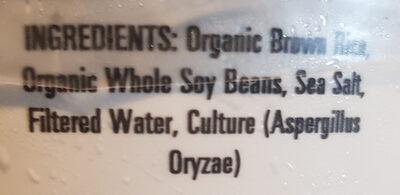 Organic Genmai Miso - Ingrédients - en