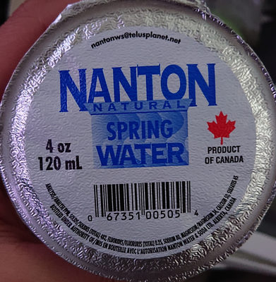 Nanton Natural Water Artesian - Product