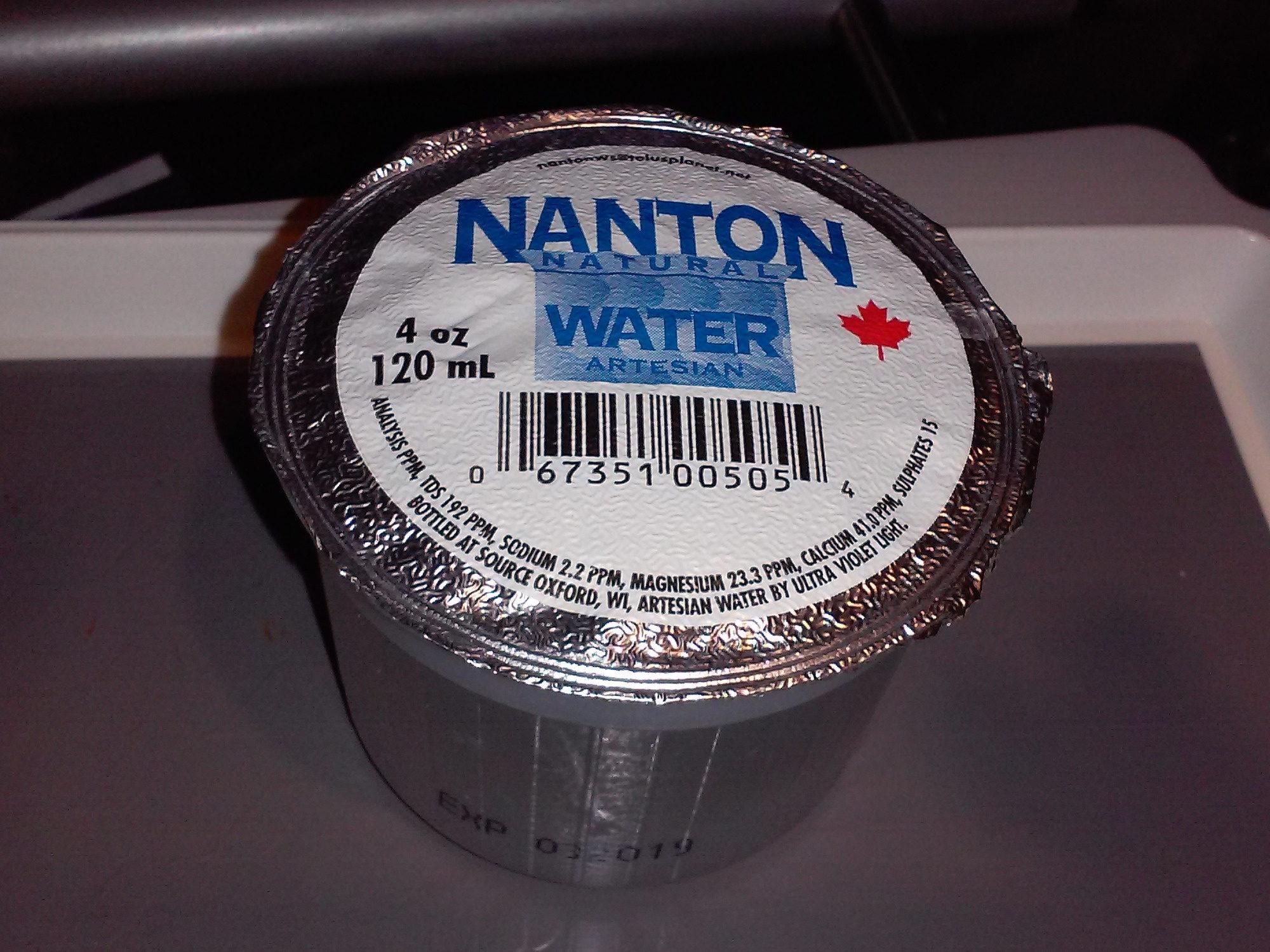 Nanton Natural Water Artesian - Ingrédients - fr