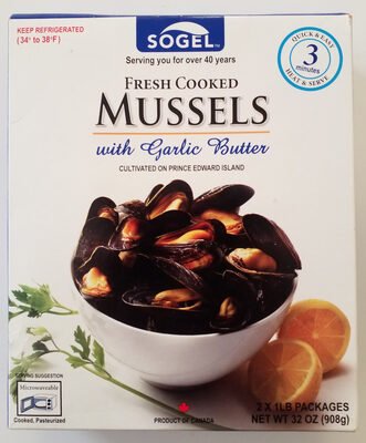 Fresh Cooked Mussels with Garlic Butter - Product - en