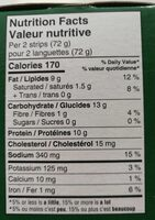 Languette de poulrt - Nutrition facts - en