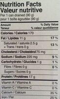 Sardines - Nutrition facts - fr