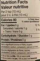 Extra Virgin Oil - Informations nutritionnelles