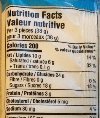 Hershey's cookies n creme - Nutrition facts - fr