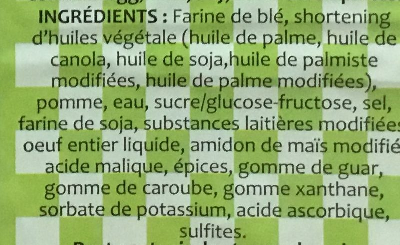 Chaussons aux pommes - Ingredients