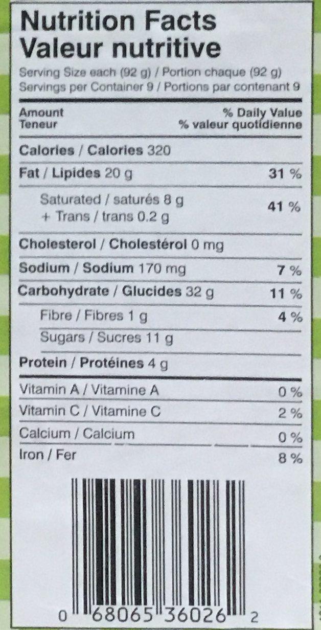 Chaussons aux pommes - Nutrition facts