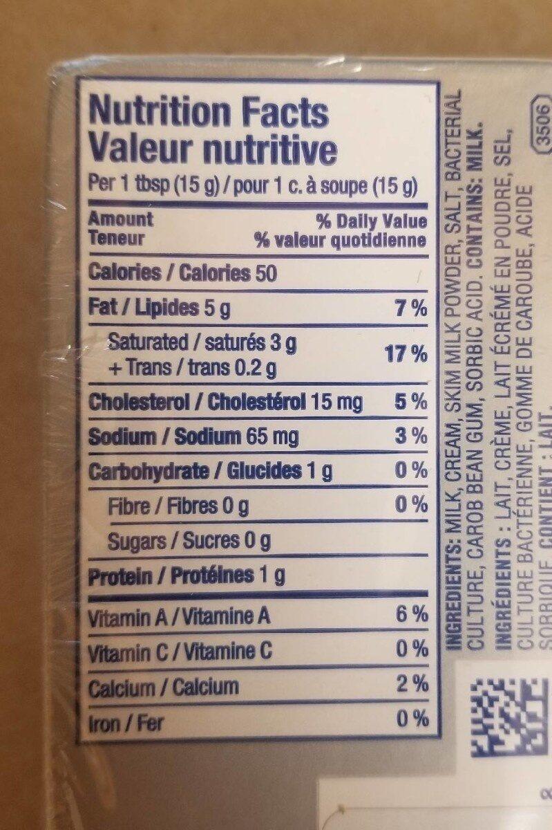 Philadelphia original cream cheese - Nutrition facts - fr