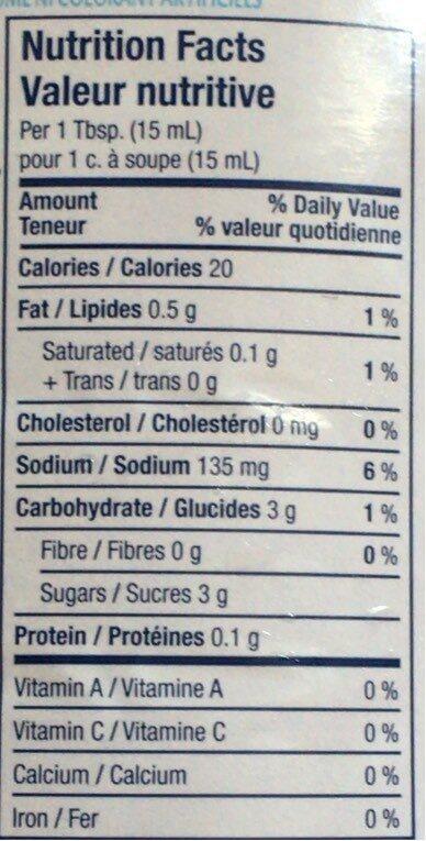 Kraft Catalina Dressing/Vinaigrette - Informations nutritionnelles - fr