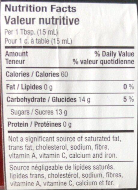 Confiture de fraises PURE - Nutrition facts - fr