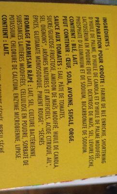 Kraft kit pizza - Ingredients