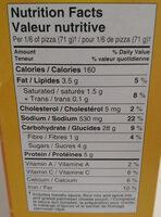 Kraft kit pizza - Informations nutritionnelles