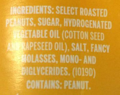 Kraft peanut butter extra creamy peanut butter - Ingredients