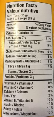 Kraft peanut butter extra creamy peanut butter - Nutrition facts