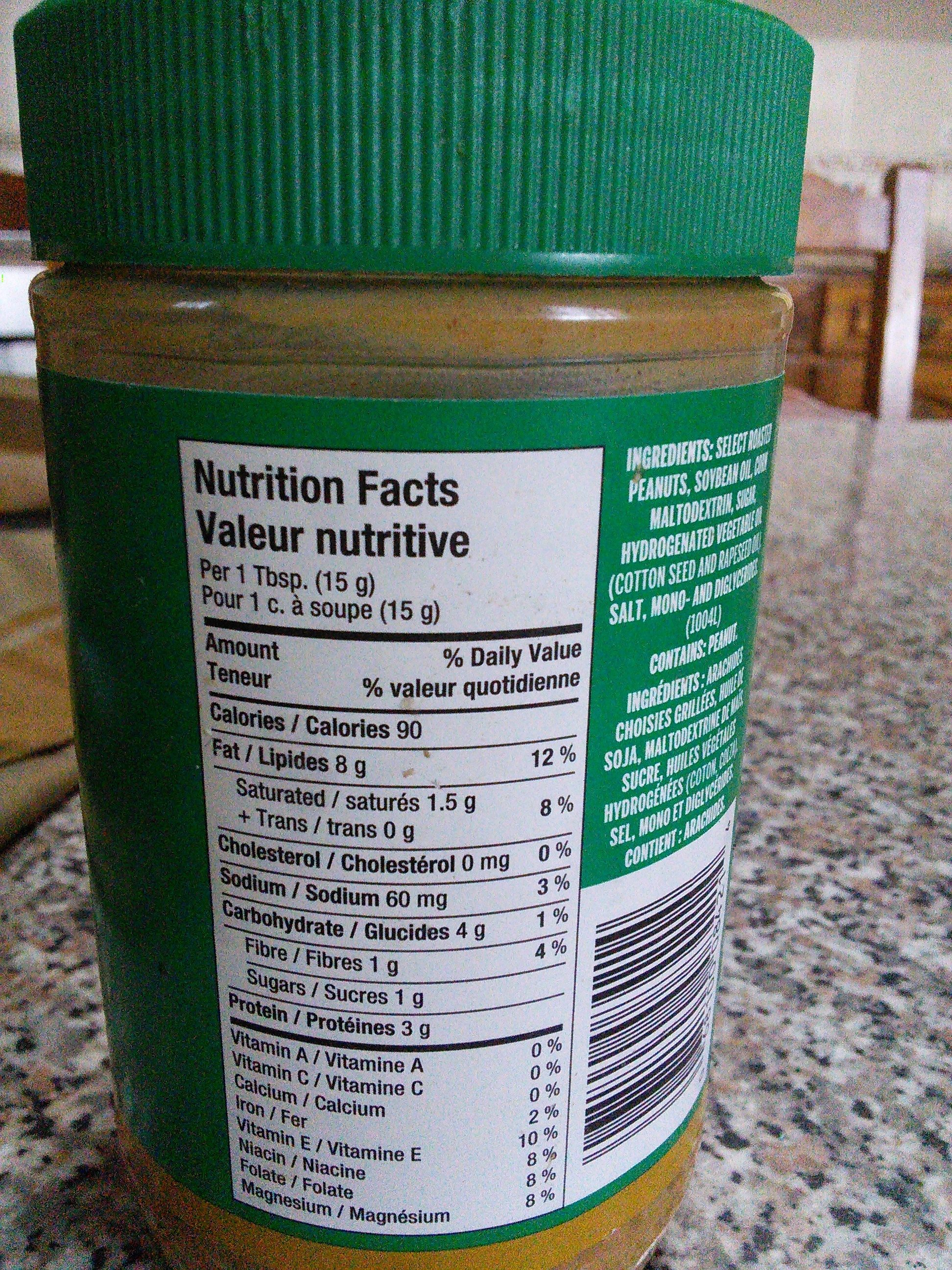 Peanut Butter Smooth - Nutrition facts