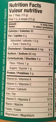 Beurre d'Arachide Crémeux - Nutrition facts
