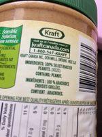 Kraft Only Peanuts Smooth - Ingrédients - fr