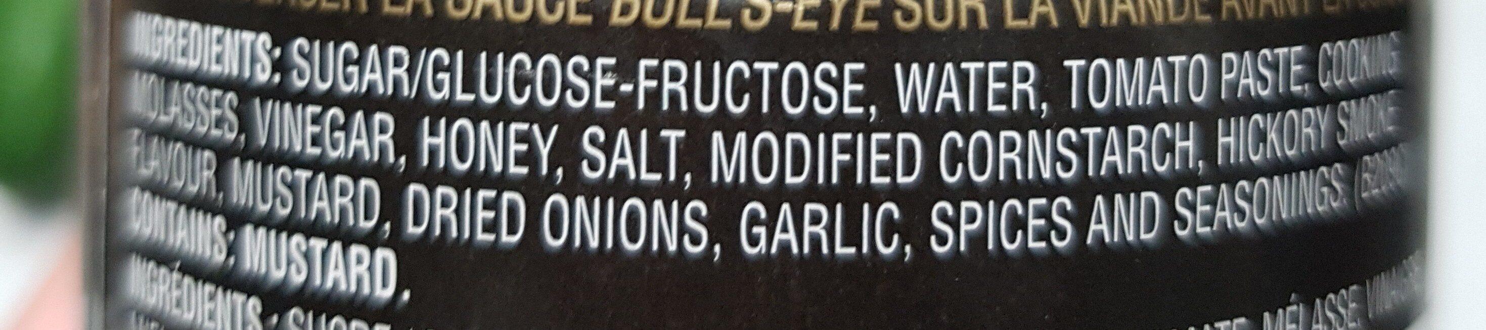 Honey garlic BBQ sauce - Ingredients - en