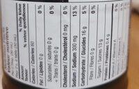 Honey garlic BBQ sauce - Nutrition facts - en