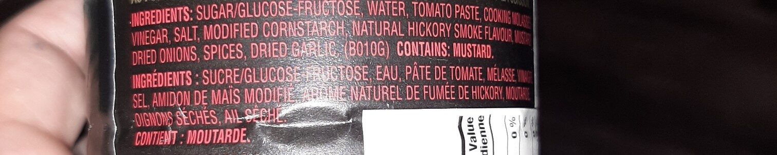 Barbecue Sauce - Ingredients - en