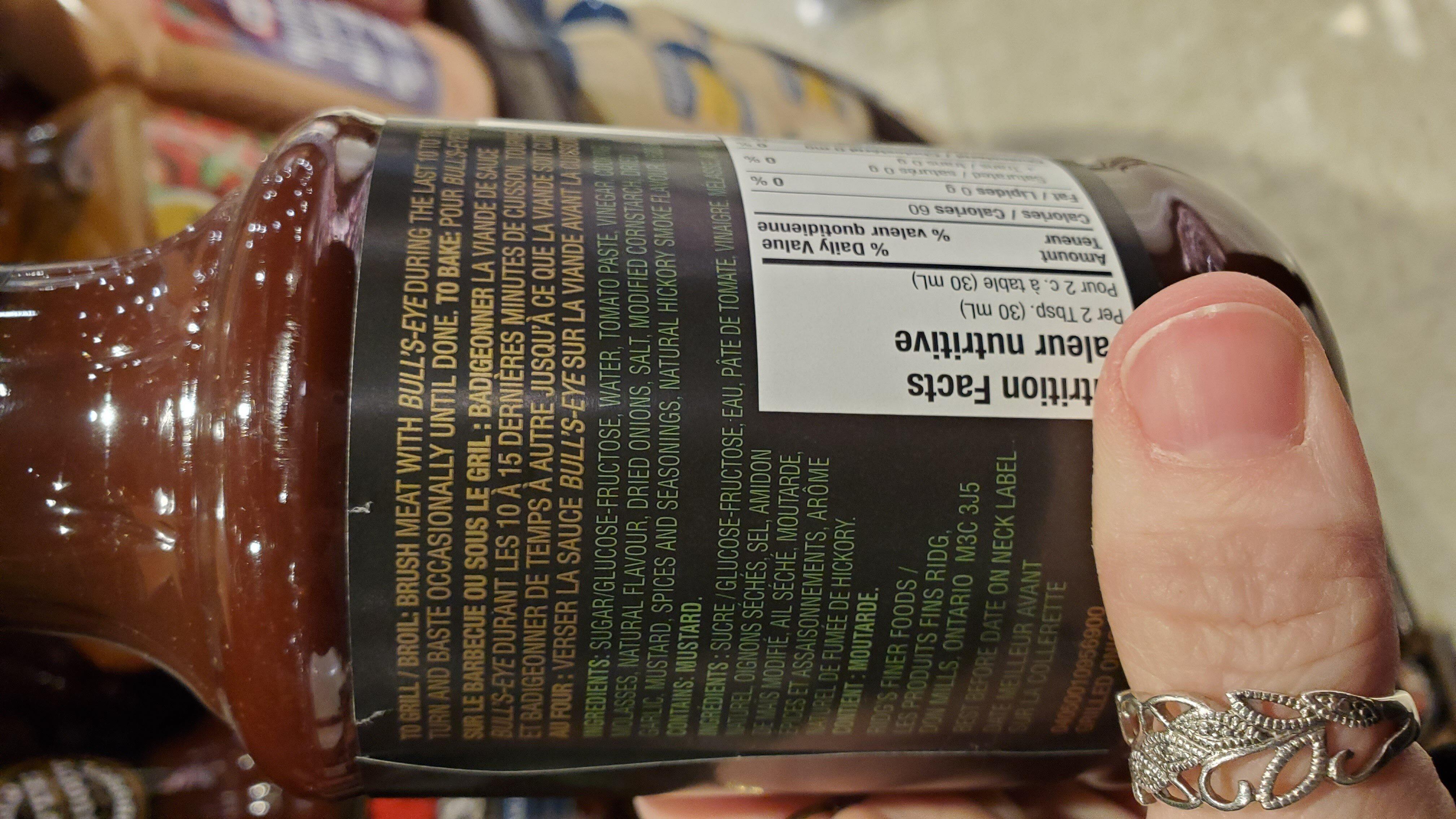 bbq sauce - Ingrediënten - en