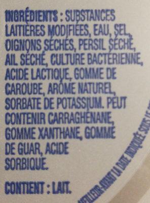 Cream Cheese Herb & Garlic - Ingredients
