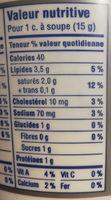 Cream Cheese Herb & Garlic - Nutrition facts