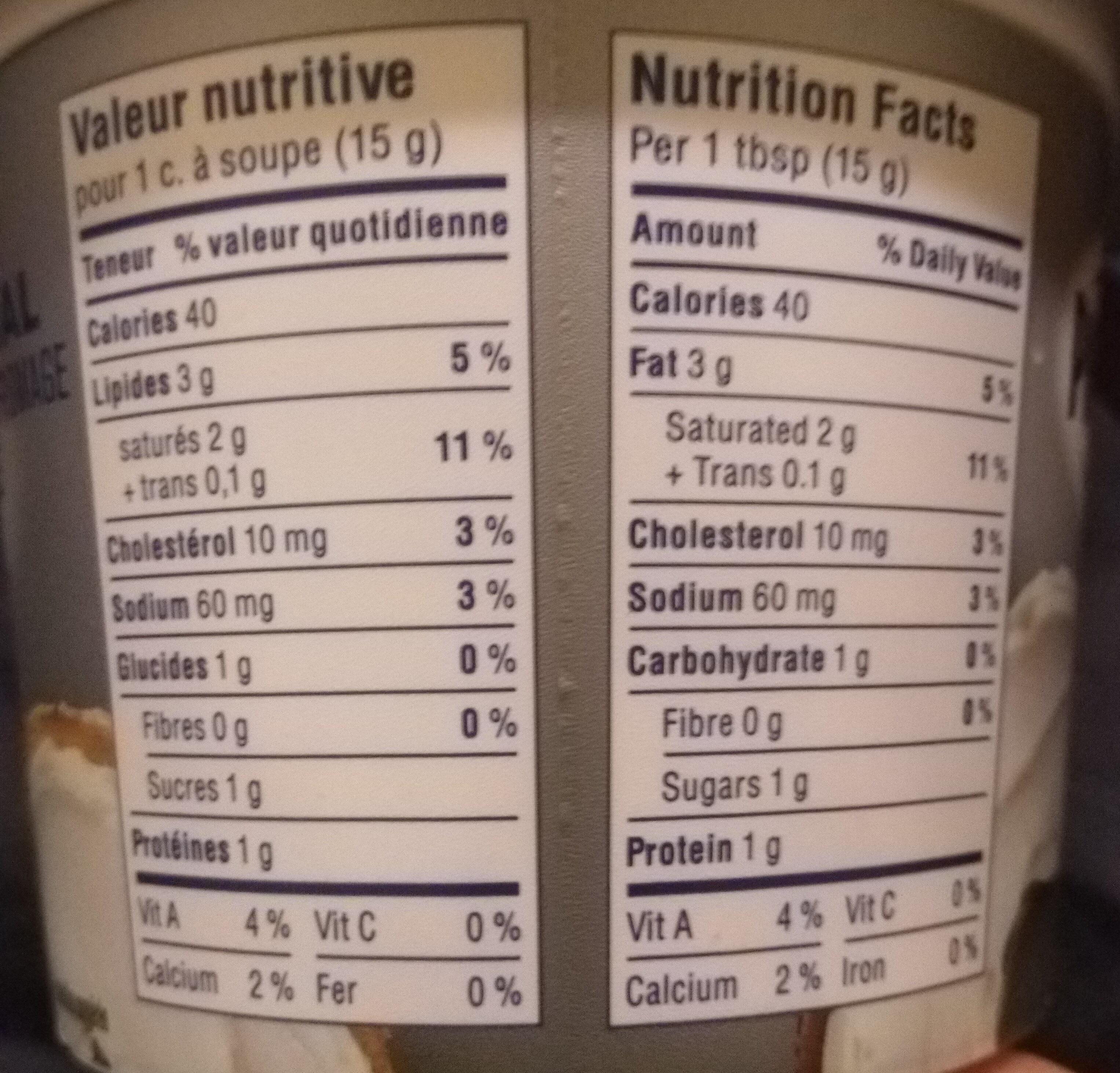 Philadelphia - Informations nutritionnelles - en