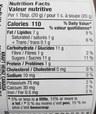 Tartinade noisettes - Nutrition facts - fr