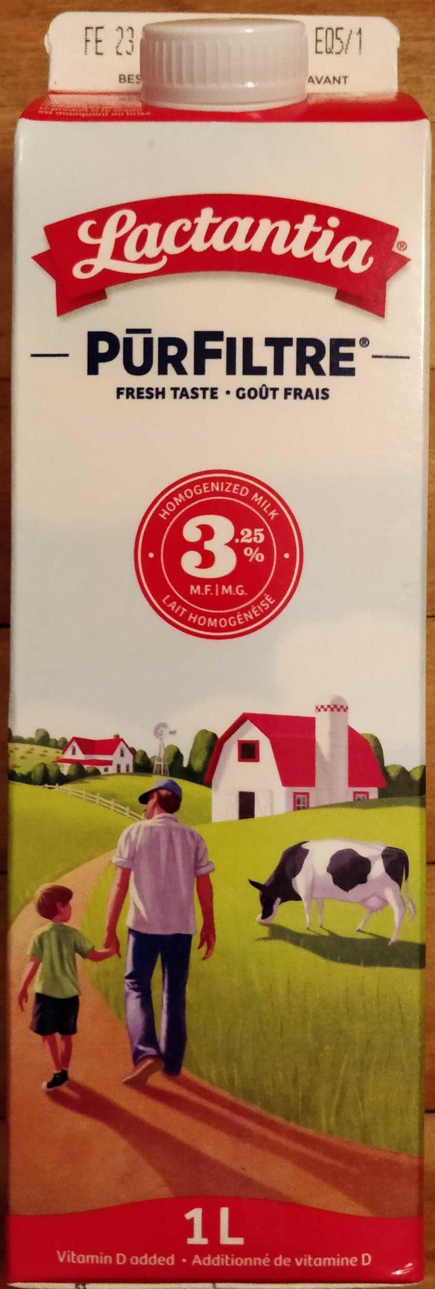 PūrFiltre lait homogénéisé 3,25 % M.G. - Product