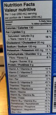 Lactantia Purfiltre - Informations nutritionnelles